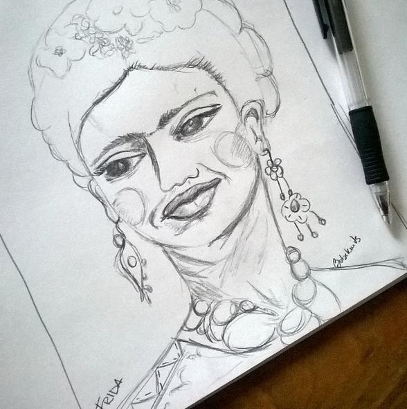 frida kahlo drawing
