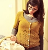 Soay Cardigan knitted by me, patterned by Gudrun Johnston